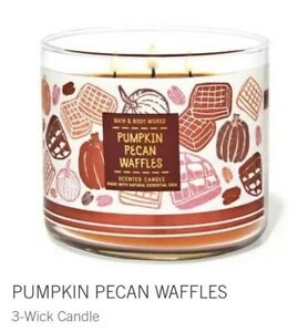 Pumpkin Pecan Waffles 3-Wick Large Candle 14.5 OZ Made With Essential Oils
