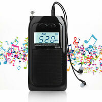 Mini Pocket FM/AM Radio Digital Tuning MP3 Player Rechargeable LCD Backlight US