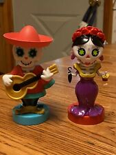 New 2020 Solar Powered Dancing Toy Halloween DAY OF THE DEAD Couple - Set Of 2