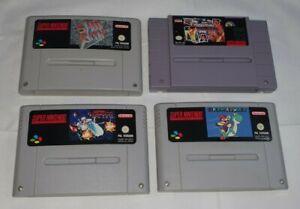 SNES Spielesammlung 4 Spiele - Super Mario World... Paket