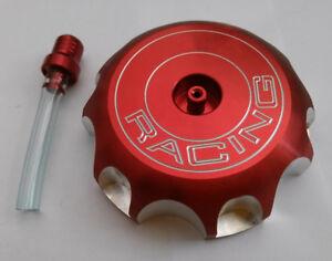 Honda Red CNC Gas Cap CRF250R CRF250X CRF450R CRF450X 2004-2009 Fuel Tank Cap