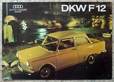 AUTO UNION DKW F12 Car Sales Brochure c1965 #WB 5319 (20-K-126)