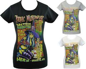 Zodiac Mindwarp Womens T-Shirt Witch Potions Hard Glam Rock Lowbrow Johnny Ace