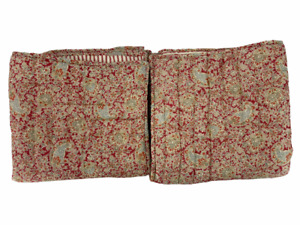 Pottery Barn Bed + Bath 2 Euro Size Pillow Shams 26x26 Red Gold Paisley Stripe