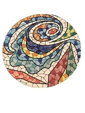Gaudi Inspired Hand Painted Mosaic Decorative Plate Parque Guell