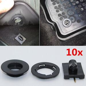 10x Black Universal Car Carpet Clip Floor Mat Buckle Latch Fastener Accessories
