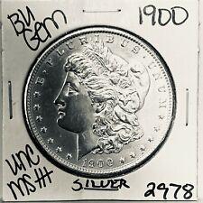 1900 BU GEM MORGAN SILVER DOLLAR UNC MS++ GENUINE U.S. MINT RARE COIN 2978