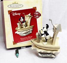 Hallmark Christmas Ornament Disney Mickey Mouse STEAMBOAT WILLIE