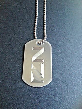 Mass Effect N7 Stainless Steel Dog Tag Necklace N7 Necklace Mass Effect necklace