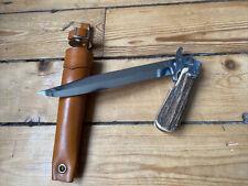 ELOI ? NOGENT ? ancien Rare Couteau Pliant Chasse Venerie Corne Cerf Étui Cuir