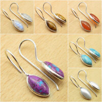 PURPLE COPPER TURQUOISE & Other Gemstone Earrings, 925 Silver Plated MANY STONES