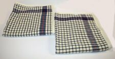 2 Ralph Lauren Talmadge Hill Dish Towel Check Wool Euro Shams New Blue Red Cream
