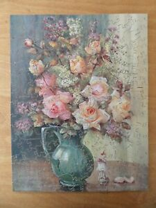 VINTAGE TUCK'S ZAG ZAW WOODEN JIGSAW PUZZLE - Autumn Roses - 220 Pieces