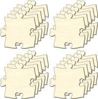 Blanko Puzzle unendlich, Herz-Nase, Set 20 Teile, Puzzleteile aus Holz, Bemalen