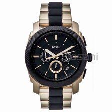 Fossil Original FS5261 Men's Machine Two Tone Stainless Steel Watch 45mm Chrono