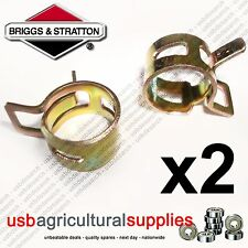 """BRIGGS & STRATTON 11mm FUEL PIPE HOSE CLAMPS CLIPS x2 1/4"""" GENIUNE PART NEXT DAY"""