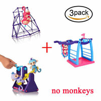 3Pack=Seesaw +Swing Set+Jungle Gym Playset Set for Baby Fingerlings Monkey Toys