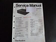 Original Service Manual  Technics  Amplifier SU-VX820