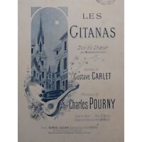 POURNY Charles The Gypsies Singer Piano ca1900 partition sheet music score