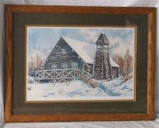 """""""Juneau Centinnial Cabin"""" Alaskan Art Print-Kitty Bauer-Limited 119/1850-1981"""