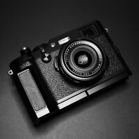 Aluminum Metal + Leather Camera Skidproof Hand Grip For   Fujifilm X100F X100T V