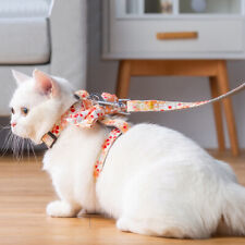 Cat Dog Collar Harness Leash Adjustable Nylon Pet Traction Kitten Halter Belt