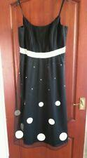 BNWT M&S Autograph Ladies Size 18 Black & White Mesh Party dress