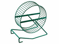 """Quality Hamster Mouse Exercise Wheel Choice of Plastic 6"""" or Metal 7"""" Diameter"""
