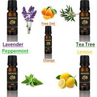 FREE 5ml Orange Essential Oil Set 4 Of 10ml Lavender Peppermint Tea Tree Lemon