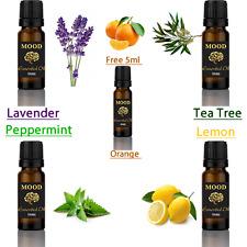 5ml Libre De Aceite Esencial Naranja Set 4 de 10ml Lavanda Menta Árbol de Té Limón