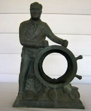Vintage 1930's Franklin D Roosevelt Metal Mantle Clock - FDR THE MAN OF THE HOUR