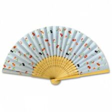 Japanese Sensu Folding Fan Yuzen Paper Goldfish Light Blue Bag FA-Y04 from Japan
