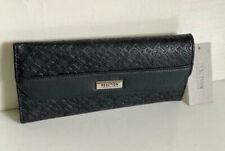 NEW! KENNETH COLE REACTION BLACK LAUREN ELONGATED CLUTCH WALLET W/COIN PURSE $50