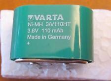 3,6V 110mAh VARTA , 3/V110HT RECHARGEABLE BATTERY NI-MH MEMPAC PCB