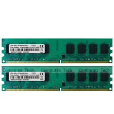 4GB  (2x2GB) 2Rx8 PC2-6400 DDR2 800Mhz Non-ECC Low Density RAM Desktop Memory