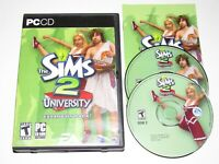 The Sims 2 University PC Game Expansion Pack 2006 Complete With Key