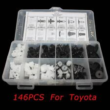 146 pcs Panel Plastic Rivet Fastener Retainer Bumper Fender Push Clip for Toyota