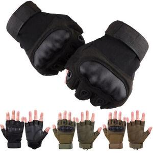 Motorcycle Half Finger Gloves Hard Knuckle Motorbike ATV UTV MX Dirt Bike Sports
