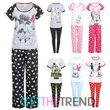 b8306c14e8 Womens Nightwear Pyjamas Ladies Minnie Mouse Dalmations Cotton PJs Top  Pants Set