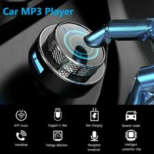 More details for car fm transmitter wireless bluetooth 5.0 mp3 player radio 2 usb charger adapter