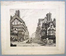 """Eau forte sur chine appliqué, école anglaise, """"Shrewbury"""", Angleterre, 1820"""