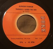 JUNIOR PARKER Things I Used To Do/That's Why I Am Always Crying 45 Duke soul mp3
