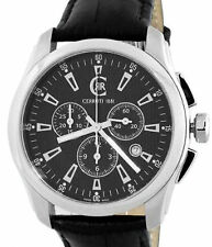 d32c98b955 CERRUTI 1881 MENS TRADIZIONE CHRONOGRAPH SWISS MADE WATCH NEW BLACK  CT100271S03