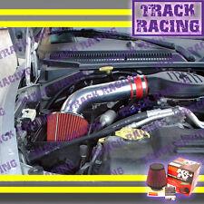 97 98 99-03 DODGE DAKOTA DURANGO 3.9L V6 5.2L 5.9L V8 AIR INTAKE KIT+K&N Red V2