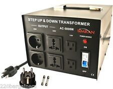 Step Up Down Simran 5000 Watt Voltage Converter Transformer 110 220 Volt 5000W
