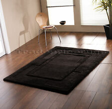 Flair Rugs Sierra Apollo Wool Rug in Black 150 X 210 Cm (a78-l7p)