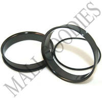 "0093 Black Single Flare Flesh Steel Tunnels Earlet Big Gauges 2"" Inch Plugs 50mm"