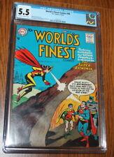 WORLD'S FINEST COMICS #90 CGC 5.5 (3RD APP BATWOMAN) BATMAN SUPERMAN