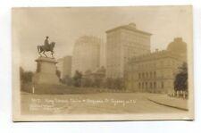 Sydney, Australia - Macquarie Street & King Edward Statue - old RP postcard