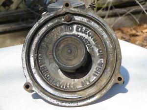 Antique Electronic Resistor Dial Cast Iron & Porcelain Steampunk